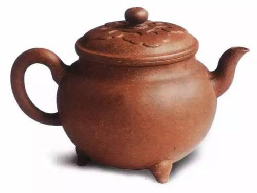 中国紫砂茗壶珍赏第9期——如意纹盖三足壶
