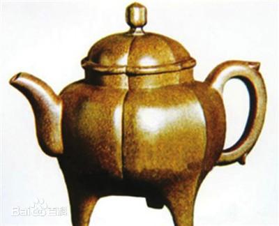 中国紫砂茗壶珍赏第28期——仿古盉形三足壶