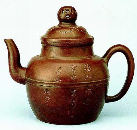 中国紫砂茗壶珍赏第48期——金钱如意纹壶