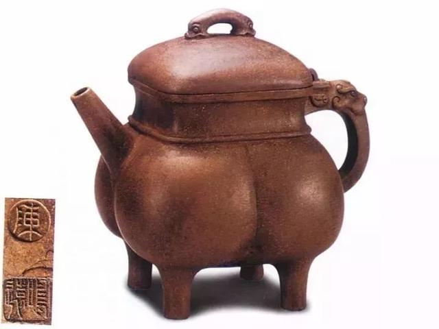 中国紫砂茗壶珍赏第57期——四足方壶