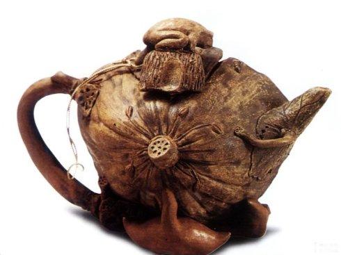 中国紫砂茗壶珍赏第62期——蟾蜍莲蓬壶