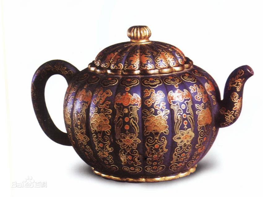 中国紫砂茗壶珍赏第72期——万蝠纹菊球壶