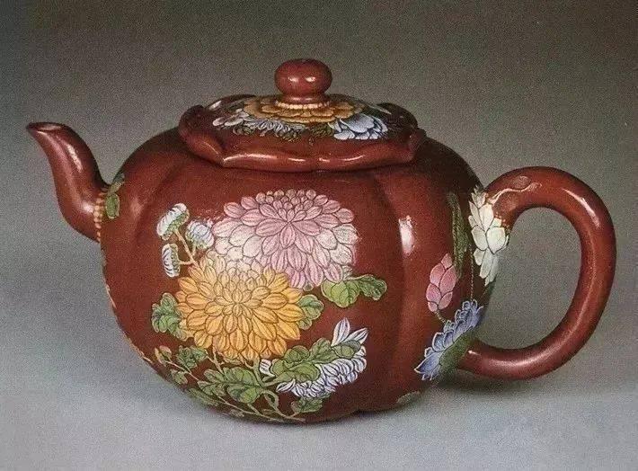 中国紫砂茗壶珍赏第69期——珐琅彩四季花卉纹壶
