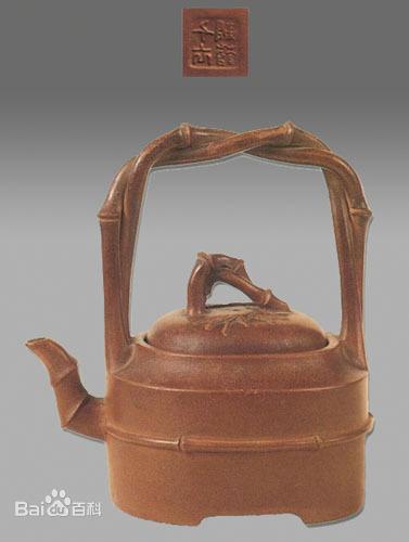 中国紫砂茗壶珍赏第95期——双竹提梁壶