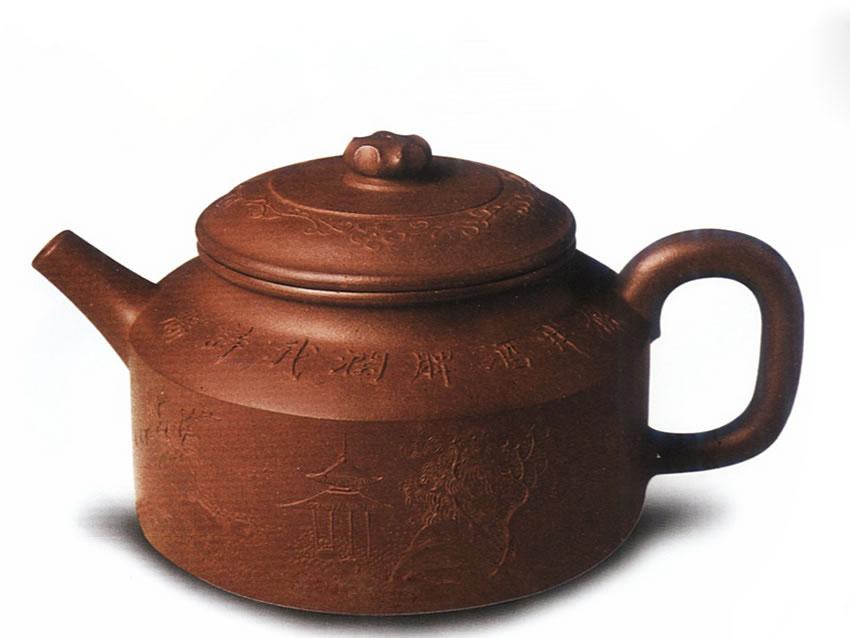 中国紫砂茗壶珍赏第84期——泥绘德钟壶
